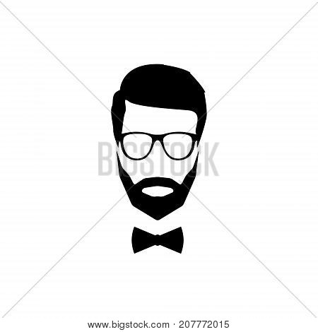 A modern avatar of a gentleman with a beard glasses and a bow tie.
