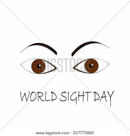 World Sight Day brown eyes concept illustration