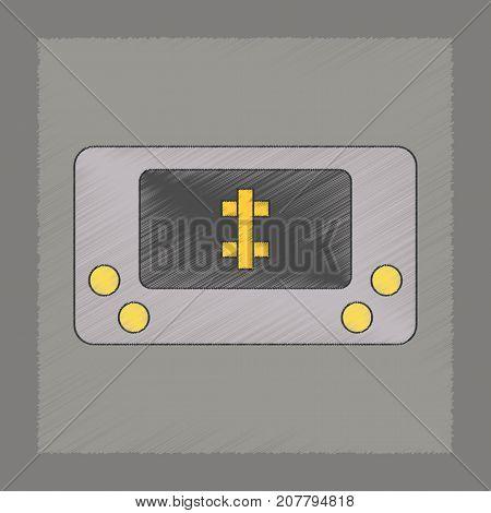 flat shading style icon Kids toy console