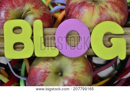 word blog on a  abstract col.ored background