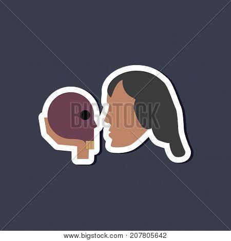 paper sticker on stylish background of Hamlet