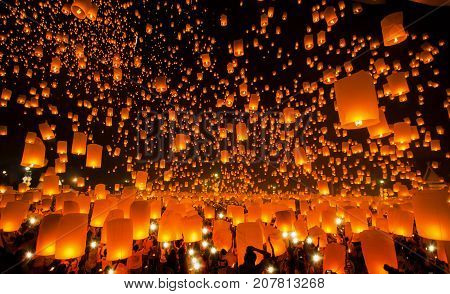 New year and Yeepeng festival in Thailand Yee peng is very famus in China Taiwan and Thailand