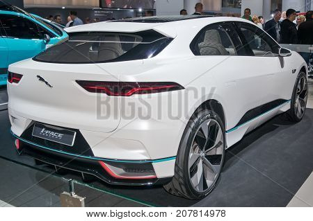 Frankfurt-September 20: Jaguar i-Pace concept at the Frankfurt International Motor Show on September 20 2017 in Frankfurt