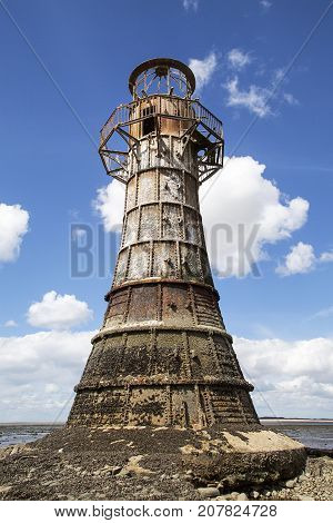 Whiteford Lighthouse is to the North of Gower Peninsular and is an abandoned 19th century cast iron lighthouse.