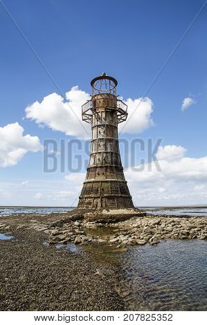 Whiteford Lighthouse is in the bay to the North of Gower and is an abandoned 19th century cast iron lighthouse.