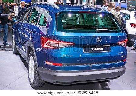 Frankfurt-September 20: Skoda Kodiaq at the Frankfurt International Motor Show on September 20 2017 in Frankfurt