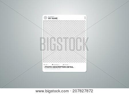 photo frame social on transparent background vector illustration
