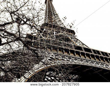 View of Tour Eiffel, Paris, France, 26/01/2007