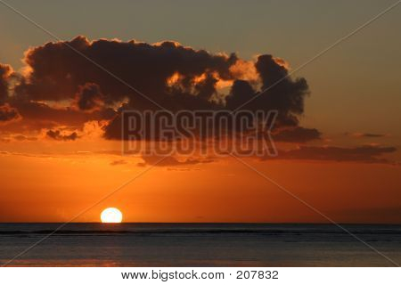Sunset Over Mauritius