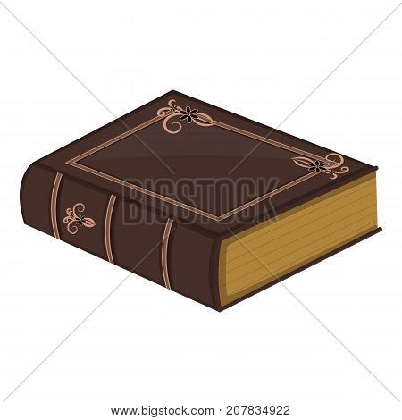 Old book. Cartoon. Vector. Folia. Encyclopedia.Isolated on a white background.
