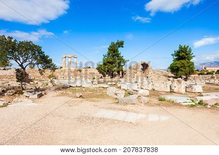Ancient Corinth In Greece