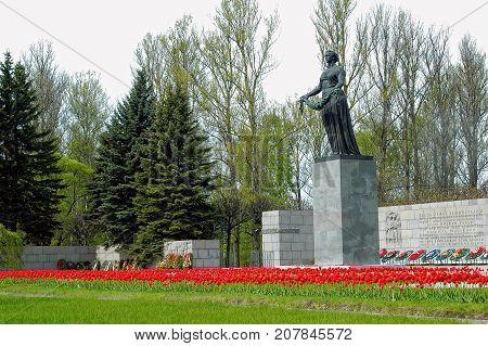 Piskarevskoe Memorial Cemetery. Saint-petersburg