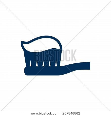 Vector Toothpaste Element In Trendy Style.  Isolated Toothbrush Icon Symbol On Clean Background.