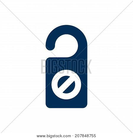 Isolated Do Not Disturb Sign Icon Symbol On Clean Background
