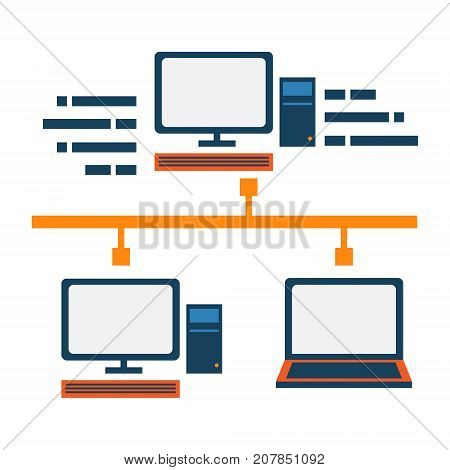 Local area network abstract icon. Server and client communication. Network block diagram. Computer network and technology concept illustration isolated vector. Transparent