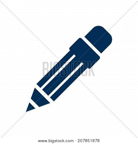 Vector Pencil Element In Trendy Style.  Isolated Drawing Icon Symbol On Clean Background.