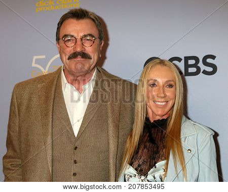 LOS ANGELES - OCT 4:  Tom Selleck, Jillie Mack_ at the Carol Burnett 50th Anniversary Special Arrivals at the CBS Television City on October 4, 2017 in Los Angeles, CA