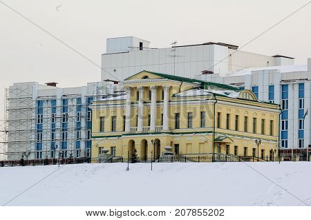 House Of The Governor On Tura River Bank. Tyumen