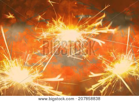 Bengali fires. Festive bright new year background. poster