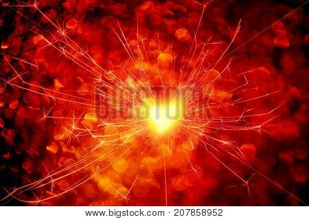 Bengali bright fire. Festive new year background. poster