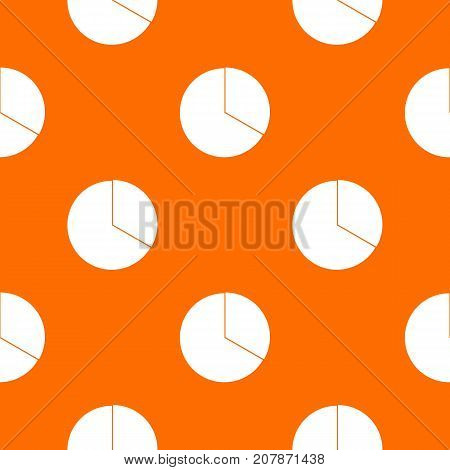 Circle chart infographic pattern repeat seamless in orange color for any design. Vector geometric illustration