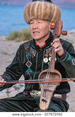 Musicians Play Traditional Instruments In Issyk Kul