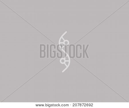 Abstract social dna logo design. Medicine, science, tech, lab vector logotype. Team work logistic structure icon symbol.