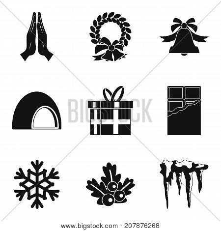 christmas stuff icons set simple set of 9 christmas stuff vector icons for web isolated