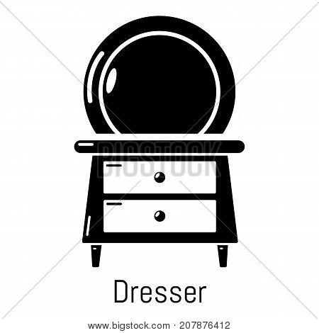 Dresser icon. Simple illustration of dresser vector icon for web