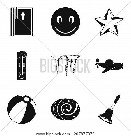 New eve icons set. Simple set of 9 new eve vector icons for web isolated on white background
