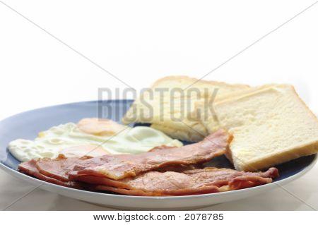 Bacon Egg Buttered Bread