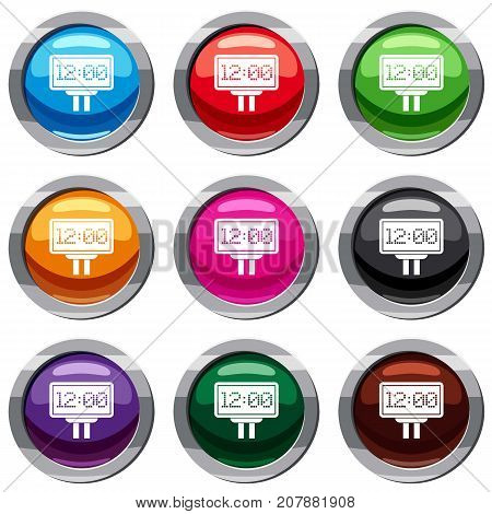 Scoreboard set icon isolated on white. 9 icon collection vector illustration