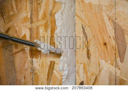 Repair Work With Foam