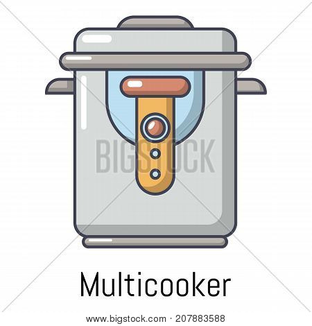 Multi cooker icon. Cartoon illustration of multi cooker vector icon for web