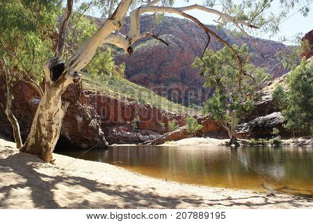 Beautiful day at Ormiston Gorge in Central Australia