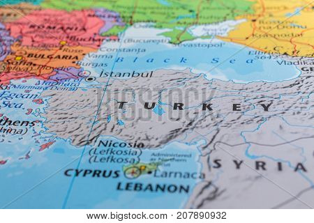 Photo on the theme of the road - turkey on europe map