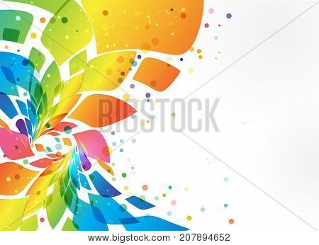 Multicolored frame abstract element on white background