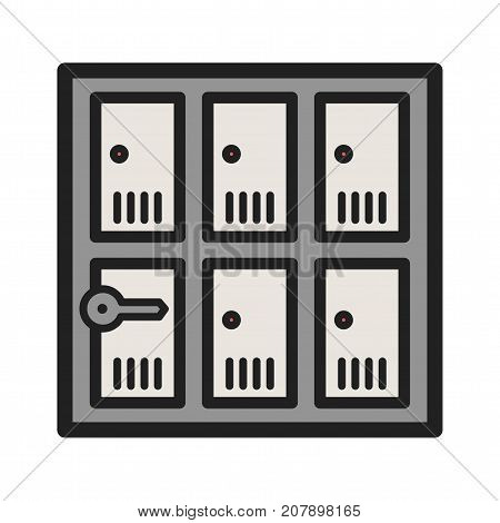 Lockers, safety, security icon vector image. Can also be used for airport. Suitable for web apps, mobile apps and print media.