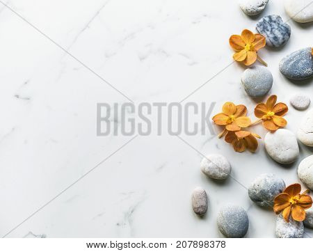 Flower rock healthy aroma balance tranquility