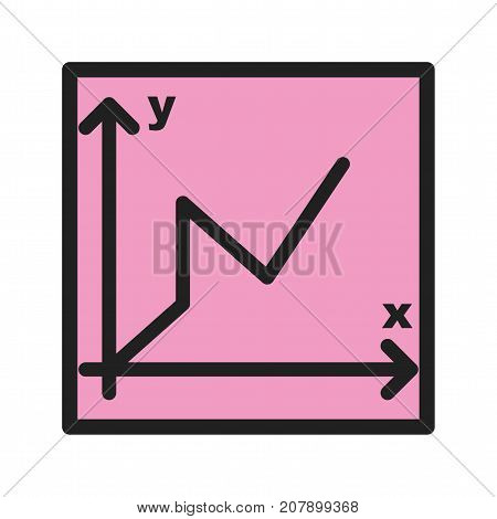 Graph, bar, maths icon vector image. Can also be used for Math Symbols. Suitable for mobile apps, web apps and print media.