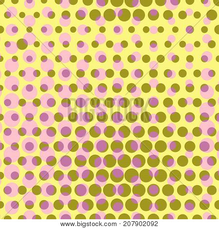 Abstract dotted halftone background. Colored pattern. Decorative template for cover, poster or banner.