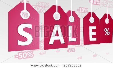 Christmas Sales Tags Illustration