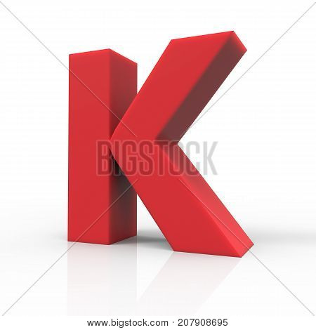 Right Red Letter K