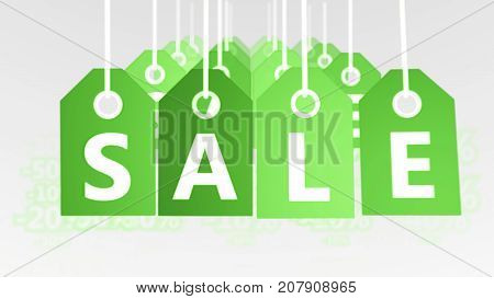 Multilayered Sales Tags Illustration