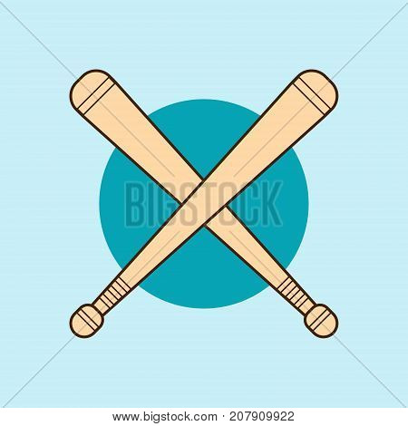 Bludgeon Wooden Or Rubber Flat Design