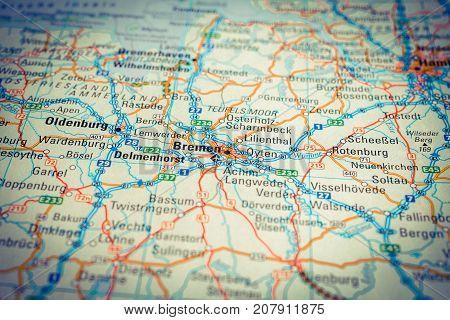 Vinnitsa Ukraine - August 25 2017: map of bremen