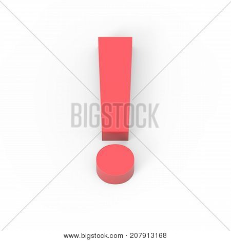 Light Matte Red Exclamation Mark