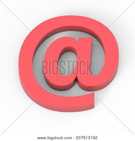 Light Matte Red Percent Sign