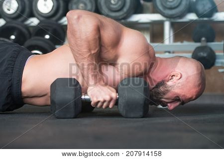 Push Ups With Dumbbels