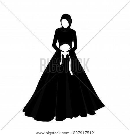 Islam woman girl wearing veil marriage wedding